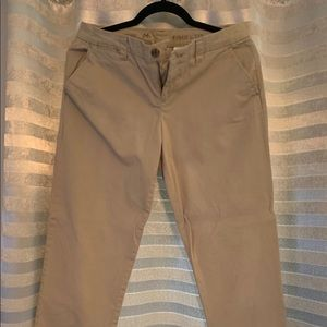 Tan Straight Leg Khaki Pants